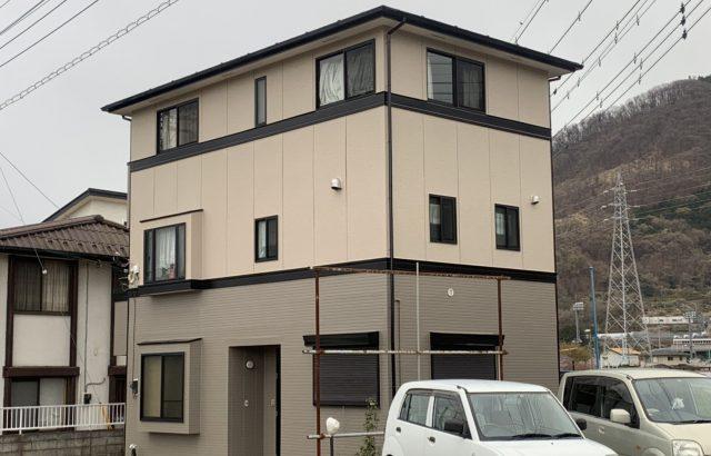 外壁塗装 屋根塗装 鉄部・雨どい塗装他 山梨県南アルプス市 日本ペイント パーフェクトトップ