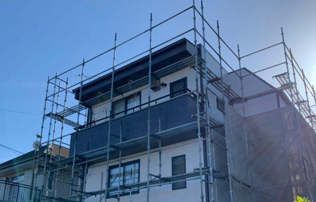 山梨県大月市 外壁塗装 笠木板金 雨樋工事 防水工事 シーリング