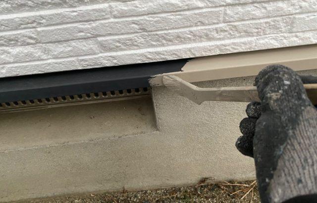 韮崎市A様邸、外壁・屋根塗装 付帯部塗装