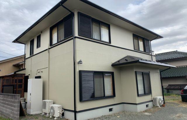 甲斐市A様邸、外壁・屋根塗装 完工
