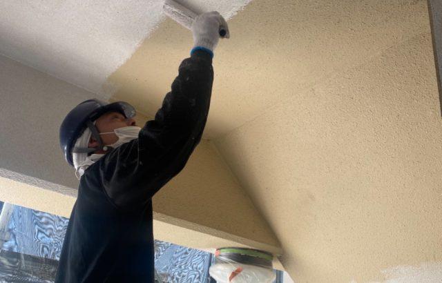 甲府市マンション 外壁塗装・防水工事 外壁塗装下塗り