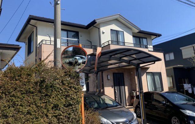 富士河口湖町M様邸、外壁塗装・屋根カバー工事スタート