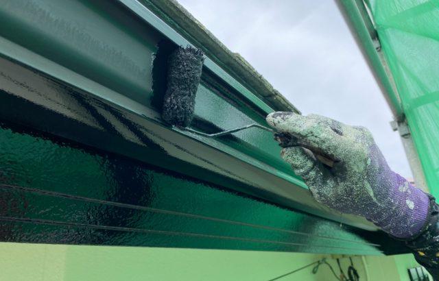 富士河口湖町M様邸、外壁塗装屋根カバー工事 付帯部塗装