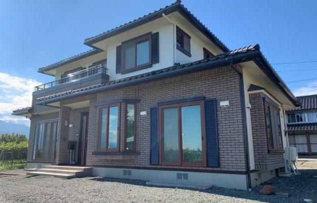 韮崎市S様邸、外壁塗装工事 完工