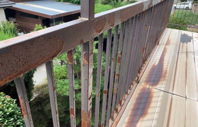 甲府市I様邸、ベランダ鉄骨塗装・床張り替え工事